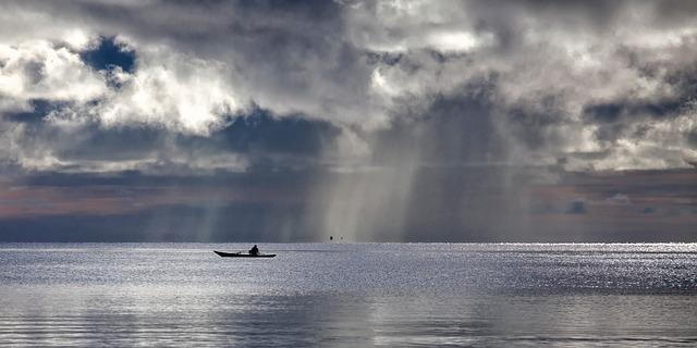 不安になる海の写真